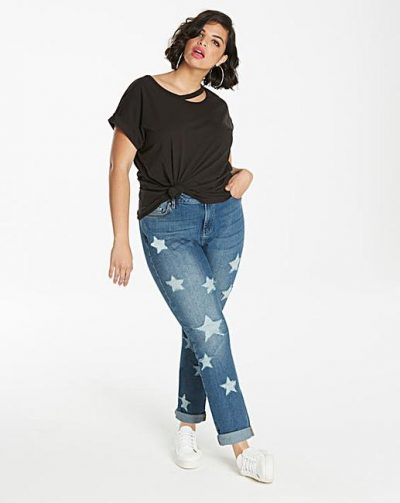 Layla Star Distressed Boyfriend Jeans Regular Length